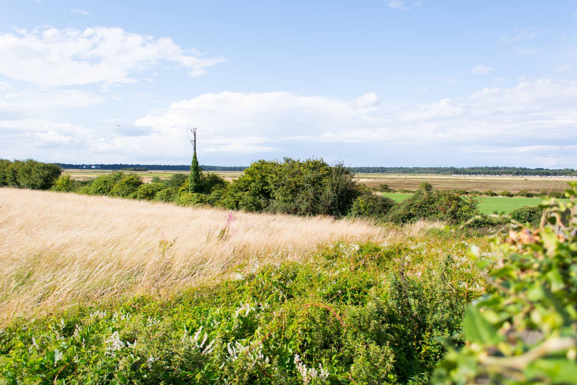 North Norfolk countyside fields and coastline.