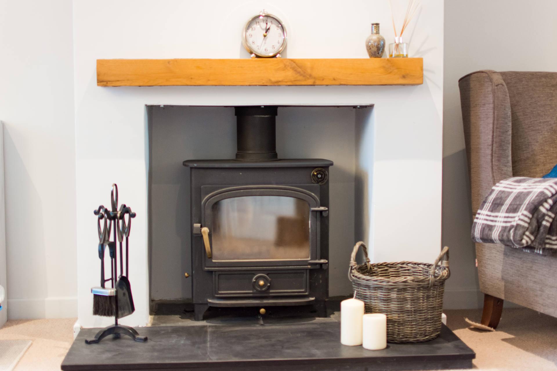 Log burner fireplace.