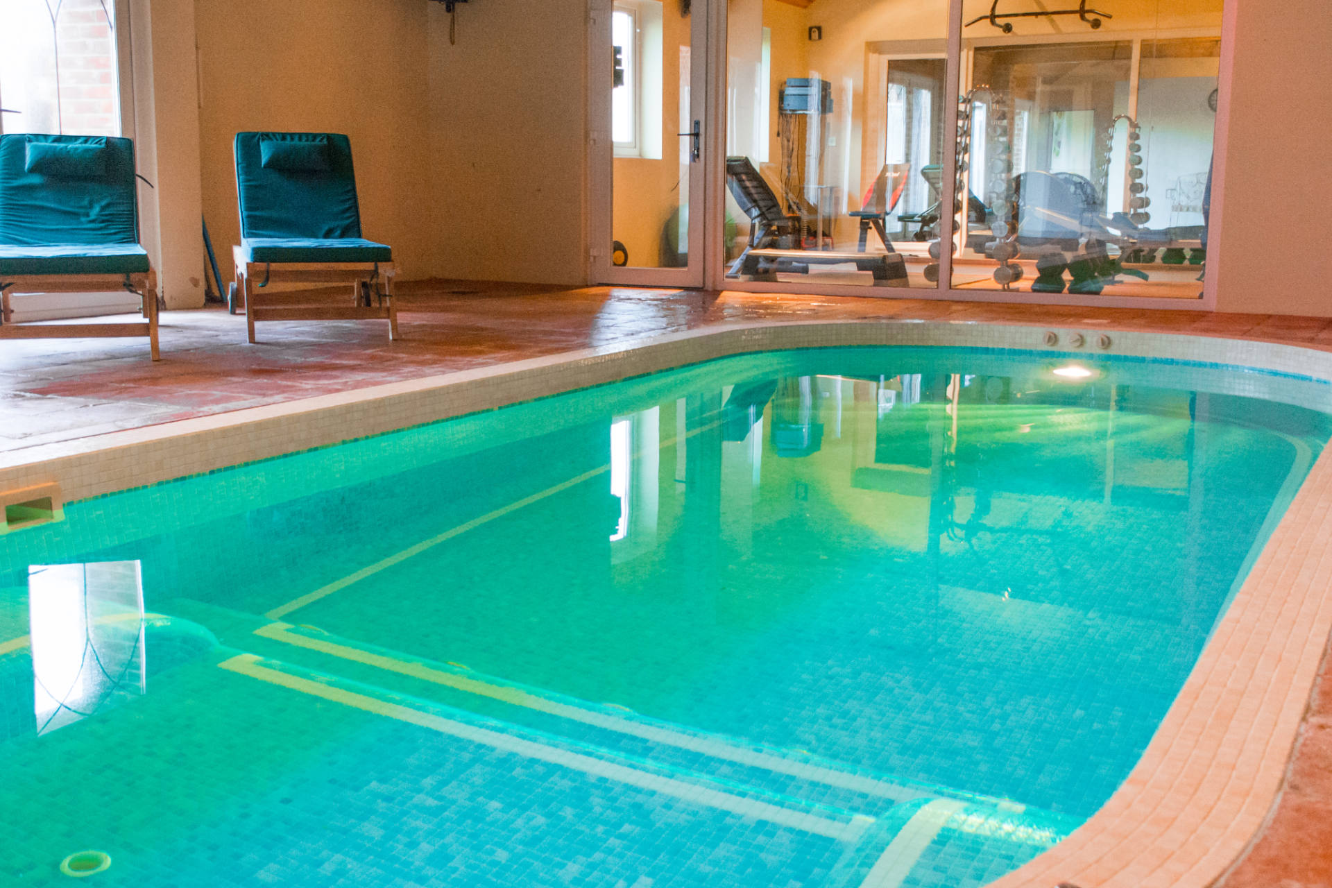 Indoor pool attached to luxury property Manor Lodge