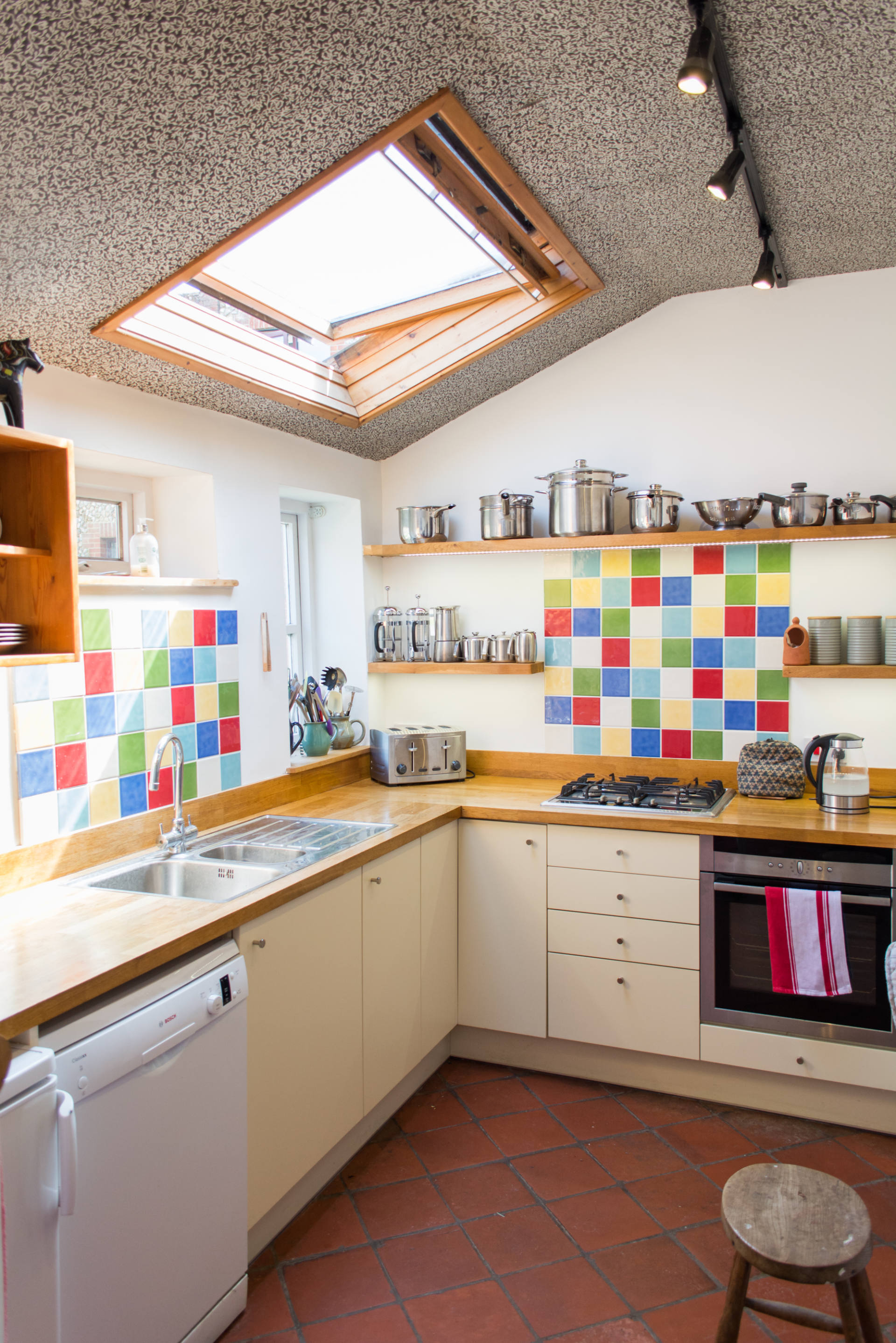 North Norfolk family holiday cottage kitchen.