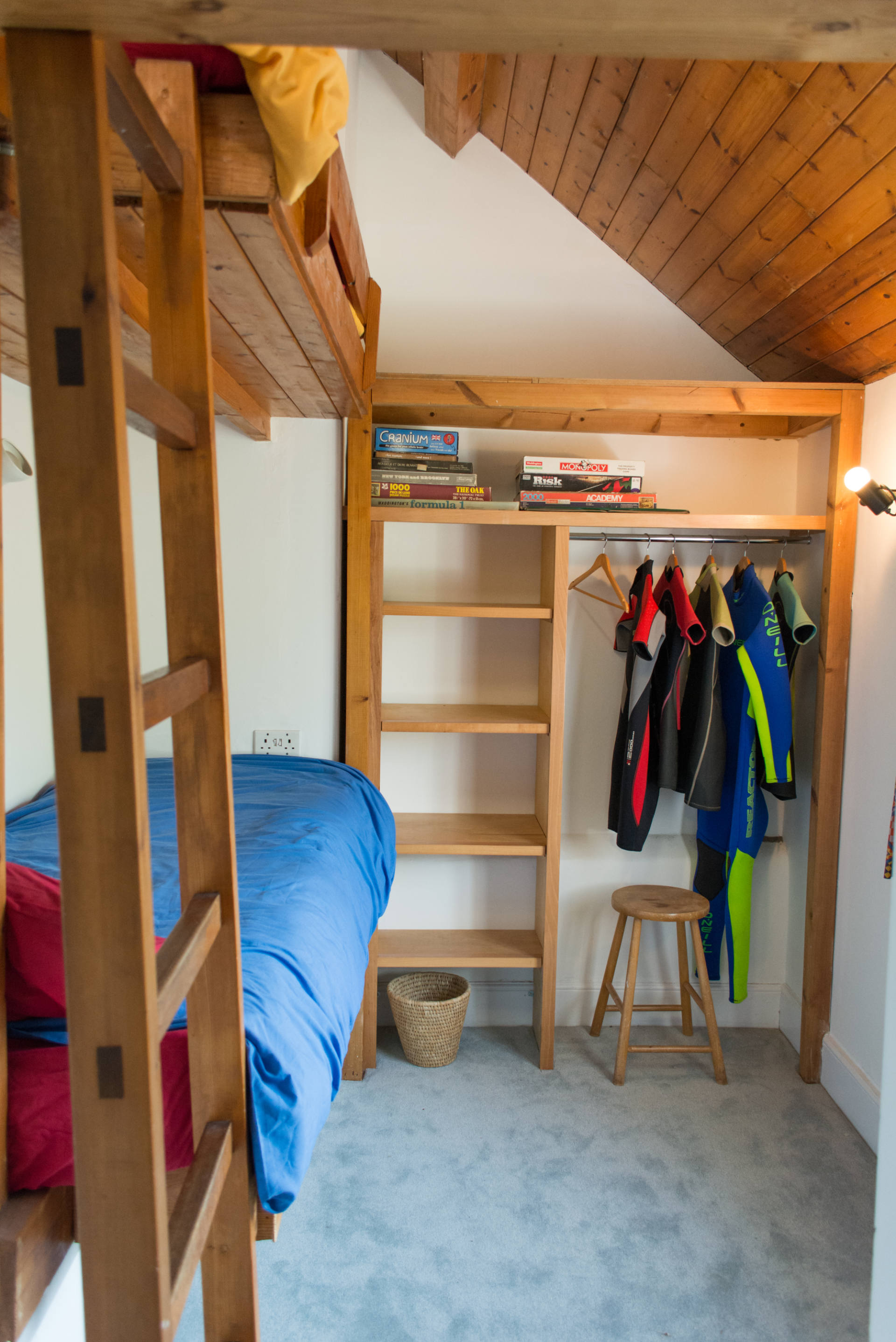 Family cottage children's bunk bed rooms.