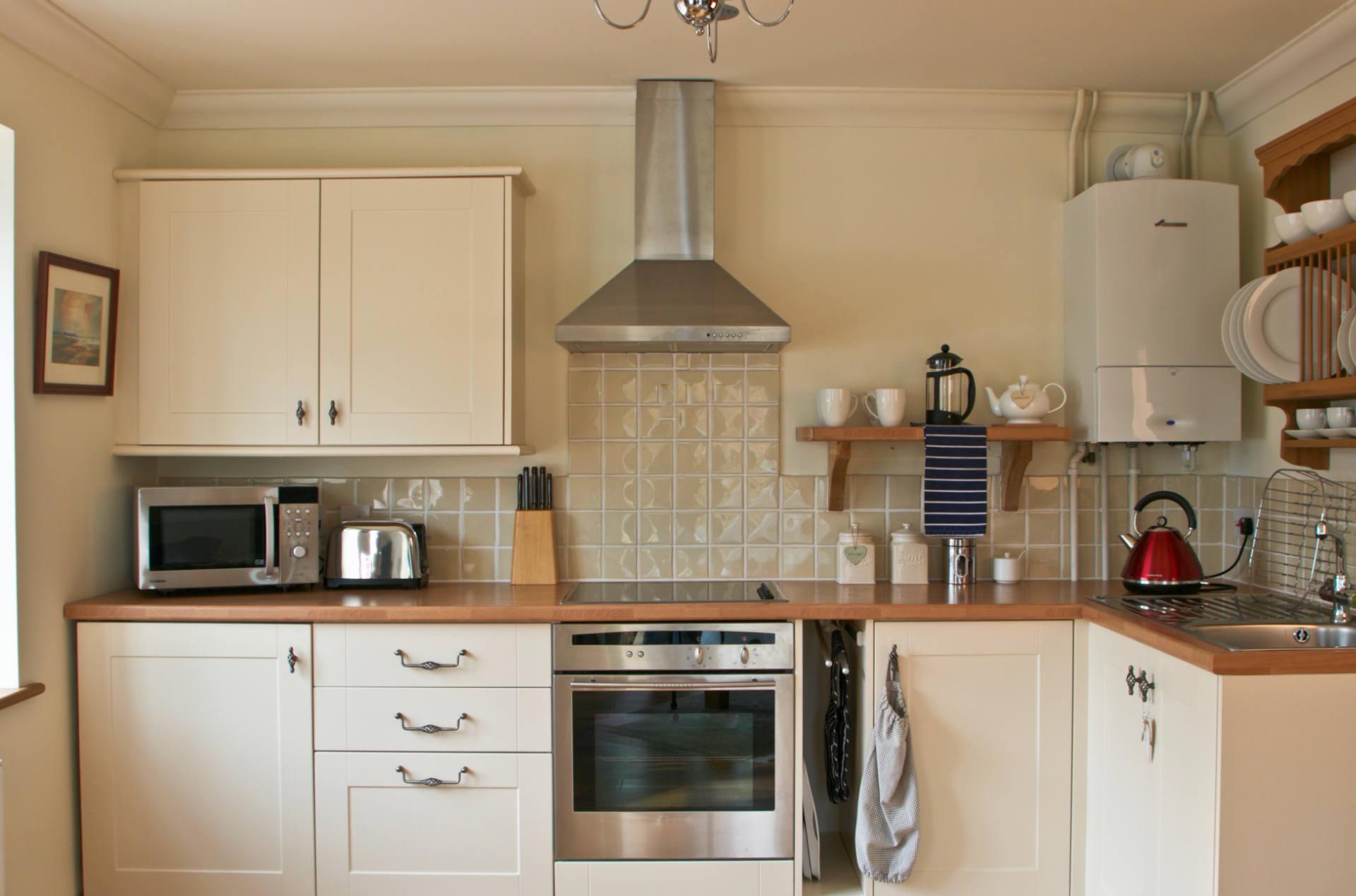 Holiday accommodation modern kitchen.