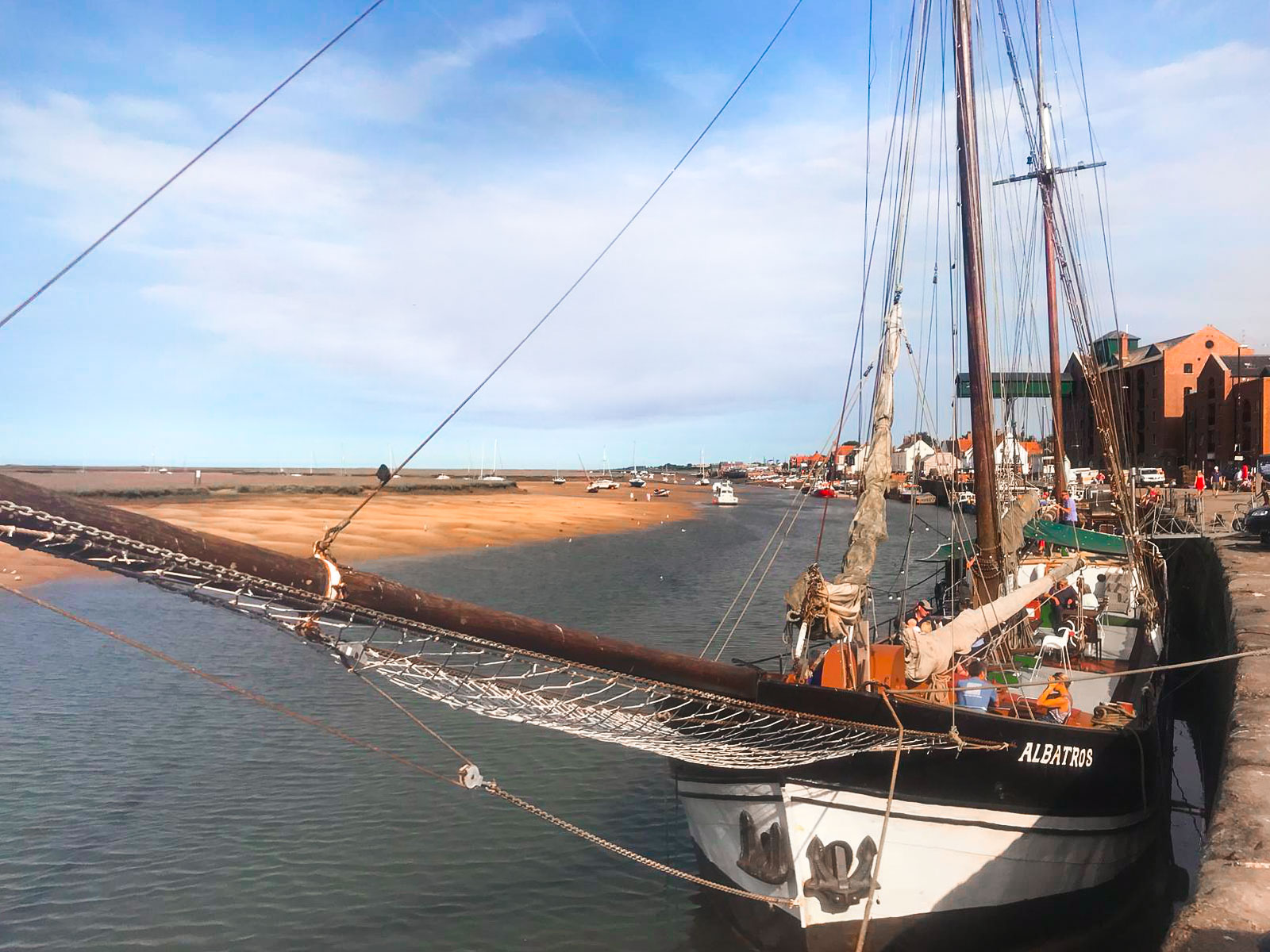 Wells-Next-The-Sea's - The Albatros - restaurant on a former dutch cargo ship.