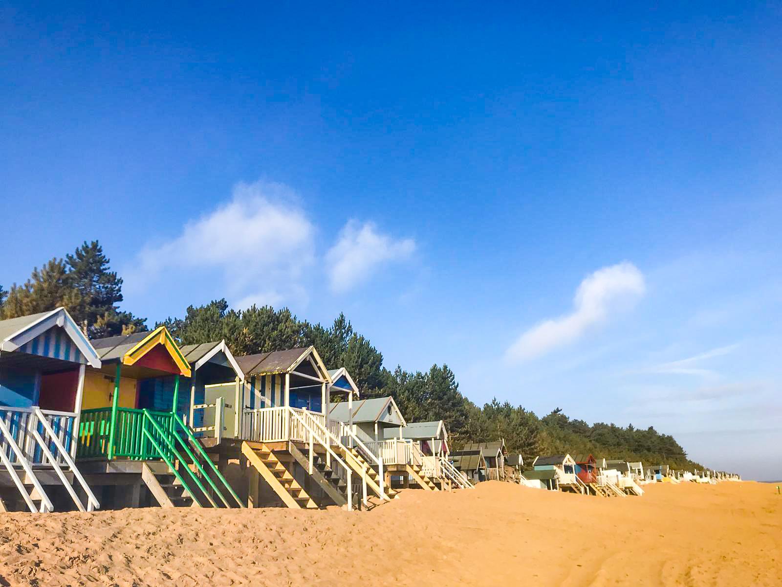 Seaside beach huts in Wells-Next-The-Sea