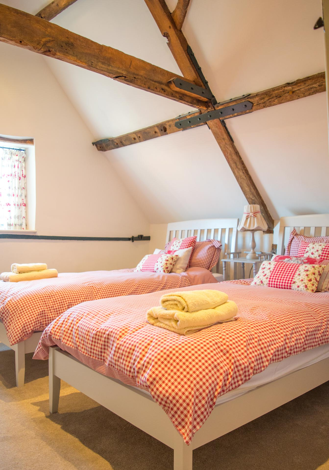 Twin bedroom with two single beds.