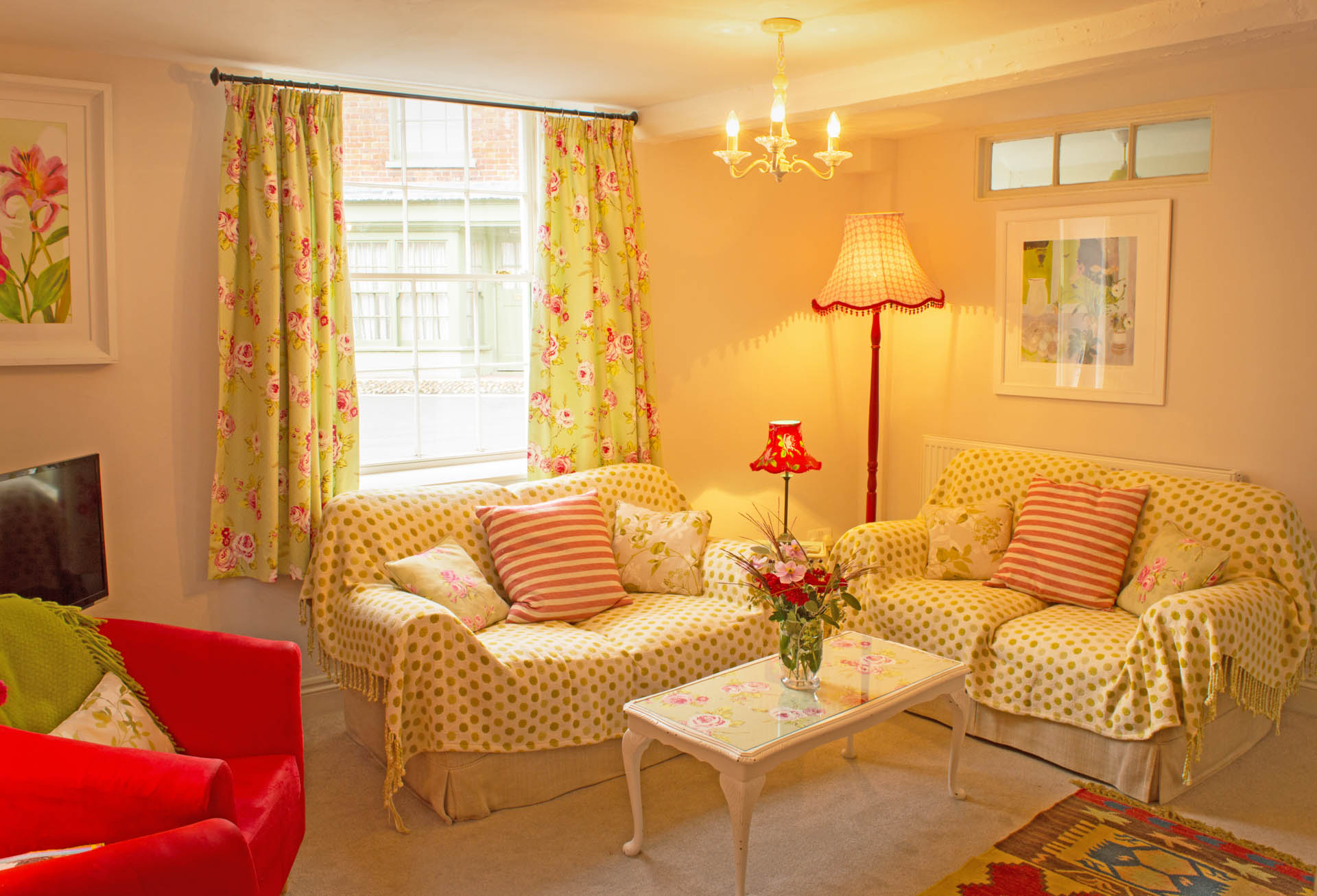 Sofa and comortable seating for guests staying at The Old Paul Pry.