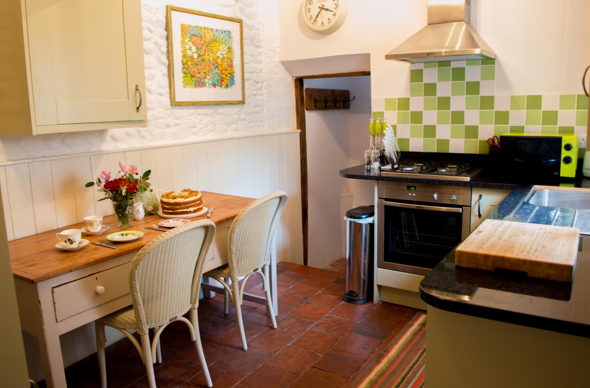 Family kitchen and table.