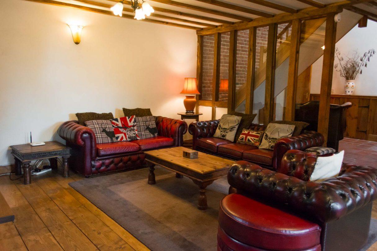 interior lounge photo of rural property threshers barn