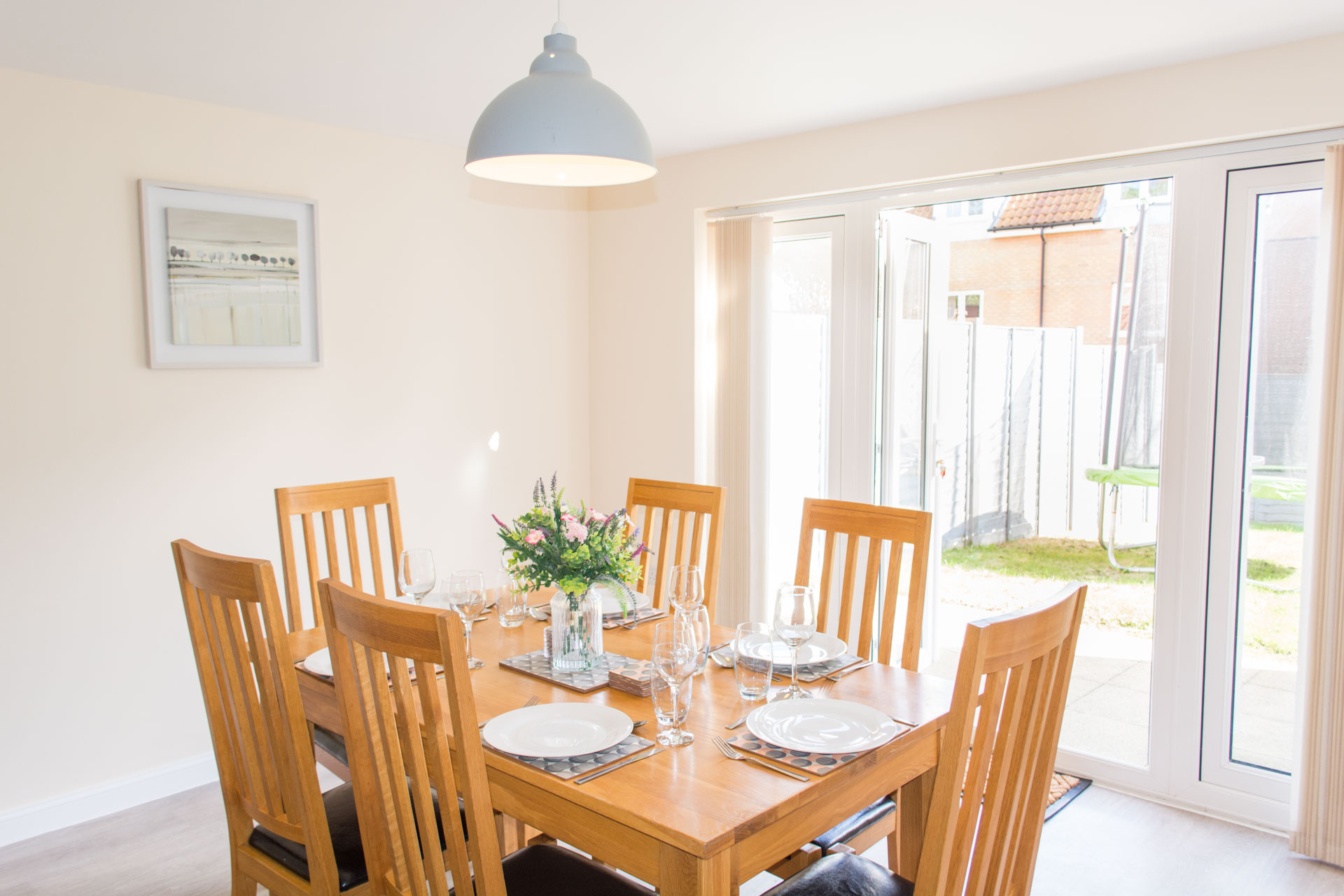 Family dining table and chairs.