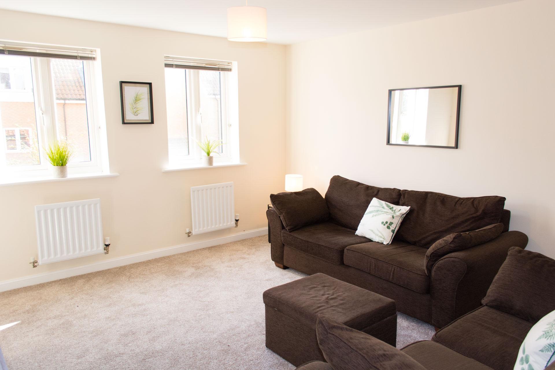 Accommodation living room.