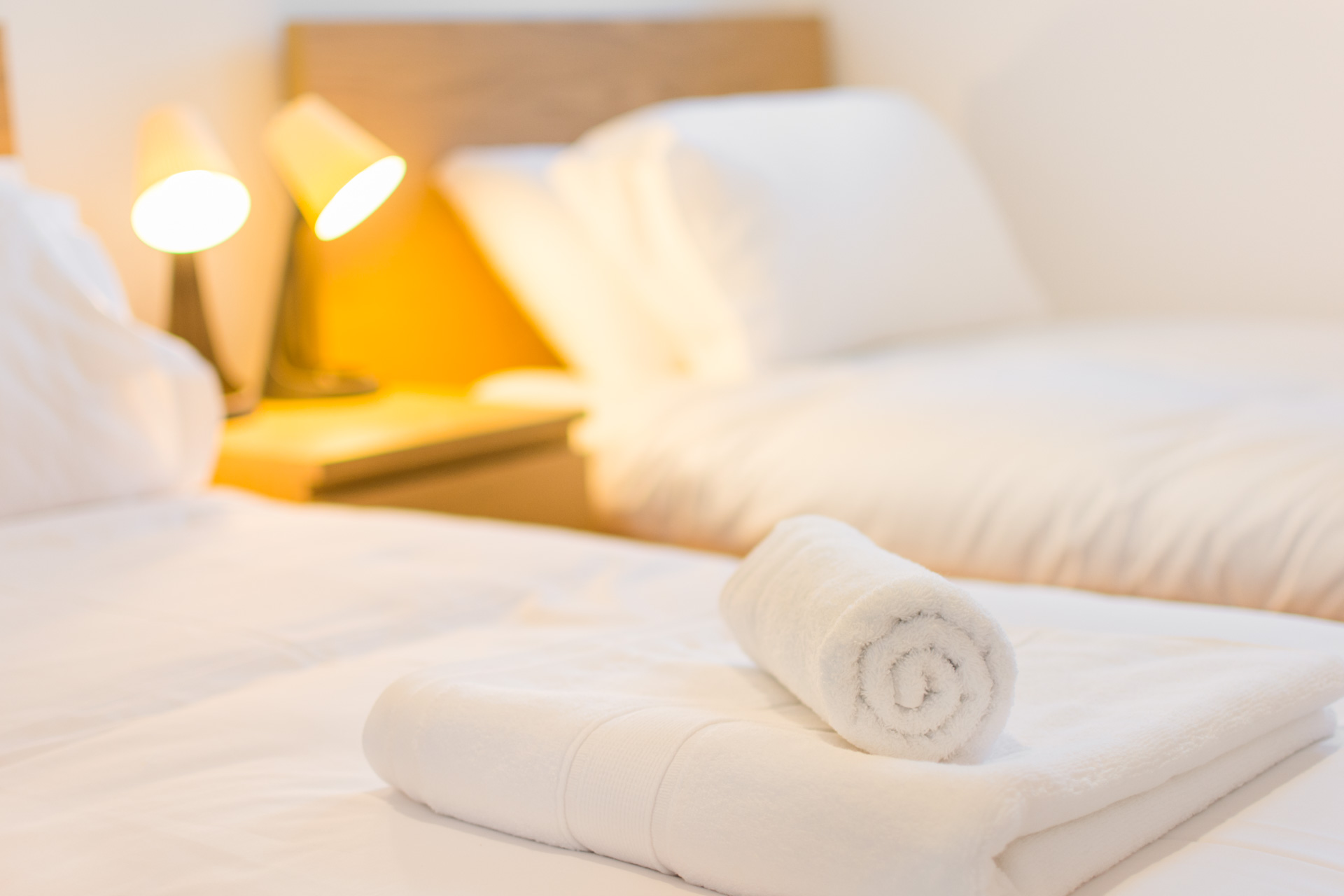 Bath and hand towels provided when staying at Heckingham Park.