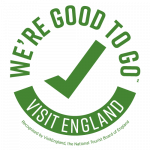 Visit England Bade showing a green logo on a white background with a green tick.