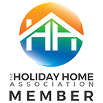 The Holiday Home Association logo is displayed to show our affiliation.